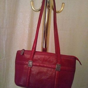 Brighton red leather purse